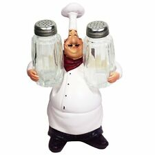 KiaoTime Restaurant Chef Figurine Decorative Home Kitchen Statue with SaltCaster