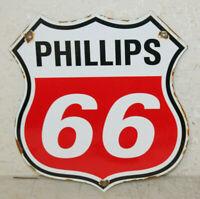 Phillips 66 Oil Porcelain Sign Gas Pump Plate Man Cave Station