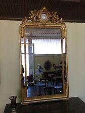 Antica specchiera in cornice foglia oro zecchino epoca '800-NO SPEDIZIONE