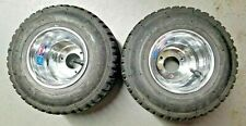 Go Kart Wheels and Rain Tires, Pair, Optional Wheel Hubs, New Wheels Used Tires