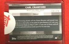 2011 TOPPS FINEST CARL CRAWFORD FINEST MOMENTS JERSEY/AUTO 254/274