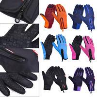 Women Men Warm Thick Mittens Waterproof Anti-slip Touch Outdoor Hiking Gloves