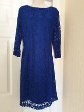 Vestido De Encaje Roman Originals Azul Talla 18