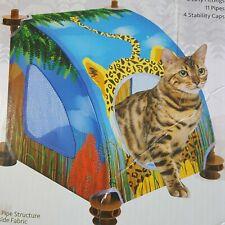 Cat Condo Savanah Cheetah cubby mesh panels comfortable bed Cats Kitten Kitties