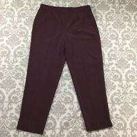 "Bianca Womens Pants size 18 new Burgundy Straight Leg x31"" inseam Stretch Career"