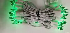 50 Green Light String with White Cord-4 inch spacing-Bethlehem- 149624