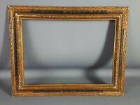 Ancien Cadre bois & stuc Style Renaissance 43x33 cm feuillure 34,7x25 cm S27