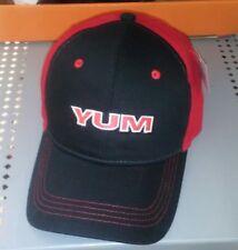 Yum Baits Hat Cap Fishing Lure Soft Plastic Worm Grub Adjustable Red Black