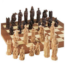 The Crusades Antiqued Chess Pieces