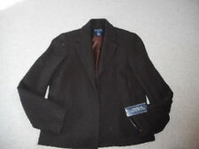 NWT Womens Jacket-JONES NEW YORK SIGNATURE-brown wool lined openfront blazer-8P
