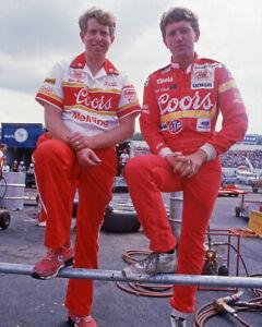 1985 Nascar Driver BILL & ERNIE ELLIOTT Glossy 8x10 Photo Martinsville Poster