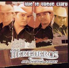 Los Herederos de Nuevo Leon que te quede  Claro CD New Nuevo Sealed