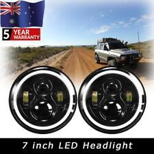 "2x7""Inch Round LED Headlights Hi-Lo DRL Turn Light For Nissan Patrol GQ 88~99"
