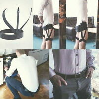 1 Pair Mens Stays Holders Elastic Shirt Garter Non-Slip Locking Clamps Uniform