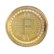UN3F Gold Plated Bitcoin Coin BTC Coin Art Collection Souvenir New Year Gift
