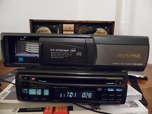 Alpine CDM-7837R Car Radio single CD Player and Alpine CHM-S630 CD changer SET