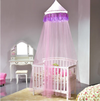 Elegant Lace Bed Mosquito Netting Mesh Canopy Round Dome Princess Bedding Net