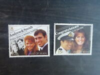 ISLE OF MAN 1986 ROYAL WEDDING SET 2 FERGIE MINT STAMPS