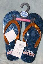 Houston Astros Women's Glitter Thong / Flip flop Sandal Size Small  (5-6)