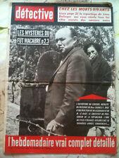 DETECTIVE 17/5/63  Reportage sorcier noirs, morts vivan