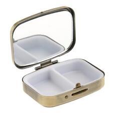 Vitamin Organizer Medicine Tablet Box Earring Storage Case Container +Mirror