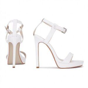 Koi Couture White Lizard Stiletto Heels Brand New In Box