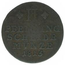 Braunschweig, Wolfenbüttel, 2 Pfennige 1815, A43443