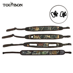Tourbon Camo Rifle Hunting Sling Strap with Thumbhole Padded Gun Sling Swivels