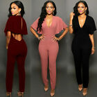 New Sexy Women Ladies Bodycon Playsuit Jumpsuit Romper Trousers Clubwear