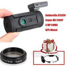 Mini 0826 Ambarella A7 Super HD 1296P Car GPS Dash Camera DVR CPL+Hard Wire B88