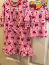 "NWT~ Sesame Street Elmo Toddler Girl 3T Nightgown & 18"" Doll Nightgown Pajamas"