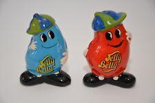 RARE Jelly Belly Jelly Bean Salt Pepper Shakers Ceramic Figure Figurine