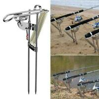 Spring Fishing Rod Holder Automatically Pulls Back NEW Detect Fish Supplys V7D9