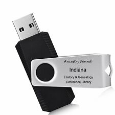 INDIANA - History & Genealogy - 101 old Books on FLASH DRIVE -  Family IN