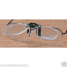 3X JEWELERS CLIP ON FLIP UP MAGNIFIER EYEGLASS LENS READING GLASSES