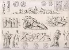 Sculture antiche Sculture greco-romane 1850  bulino su rame