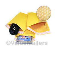 5000 #000 4x8 Kraft Bubble Padded Envelopes 4.5 x 8 ~ X-Wide Mailers Bags