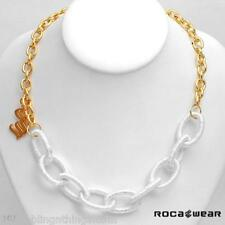 ROCA WEAR GOLD TWO TONE STUNNING NECKLACE WITH RW FLAME
