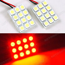 Brilliant Red Led Panels 24 Smd Dome Map Door Cargo Light Super Bright