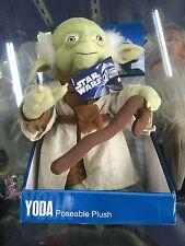 """Star Wars Yoda 11"""" Poseable Plush"""