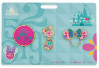 Disney Store Minnie Mouse Main Attraction Its A Small World Pin Set April 4/12