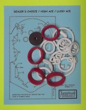 1974 Williams Dealer's Choice / High Ace / Lucky Ace pinball rubber ring kit