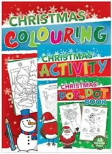 3 Christmas Activity Book Kids Children Party Gift Present Colouring Play Fun
