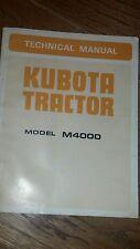 Kubota M4000 Tractor Technical Manual