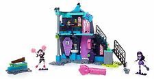 Mega Bloks Monster High School Fang Out School Play Set w/Draculaura and ... New