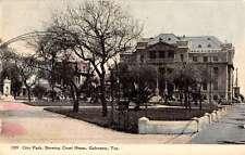 Galveston Texas City Park Court House Antique Postcard K50243