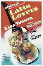 LATIN LOVERS Movie POSTER 27x40 Lana Turner Ricardo Montalban John Lund Louis