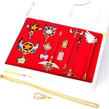 Cardcaptor Sakura KINOMOTO Clow Card Magic Wand Pendant Necklace Keychain Set