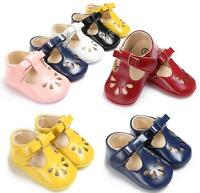 Newborn Baby Girl Princess Crib Shoes Infant Toddler Pre Walkers Shoes Size 0-18