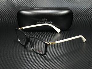 COACH HC6077 5340 Black Ivory Demo Lens 53 mm Women's Eyeglasses
